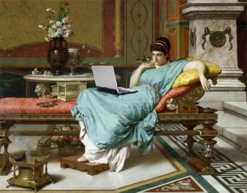 So this is how people blogged back in ancient times.